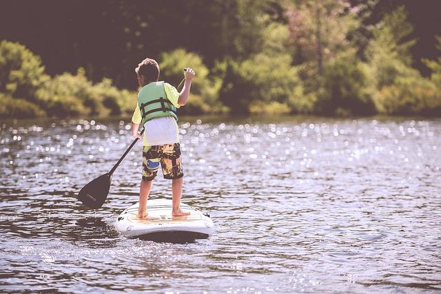 Cours de petit paddle à Hossegor