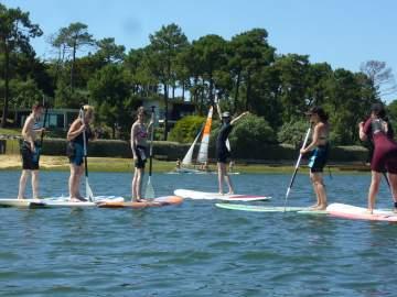 Cours de paddle à Hossegor